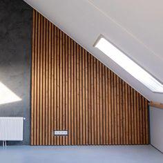 Living Room Lighting, Living Room Decor, Loft Bathroom, Bedroom Wall Designs, Attic Loft, Slat Wall, Dream Apartment, Interior Design Living Room, Interior Styling
