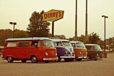 VW Busses by Ryan Gravelle, via Vw Bus, Vw Camper, Campers, Classic Trucks, Classic Cars, Vw Kombi Van, Volkswagen Type 2, Combi Vw, Vintage Restaurant