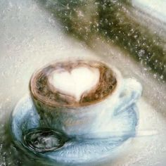 Coffee Heart - Polaroid Painting