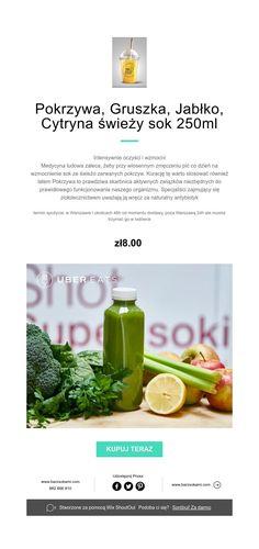 Pokrzywa, Gruszka, Jabłko, Cytryna świeży sok 250ml