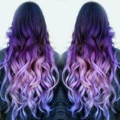 purple-lilac ombre