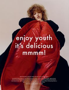 i-D Magazine - Enjoy Youth It's Delicious Mmmm!