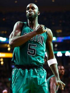Kevin Garnett...favorite all time basketball player. Changed the way big men played the game, hardest working player in the league since he's been in it. RESPECT!