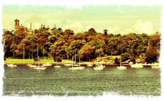 Image of Rozelle from Iron Cove Bridge, Inner West, Sydney. Where we row!