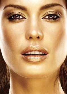 The face of glamour, who doesn't love all things gold! http://rubybox.co.za/shop/makeup/lips/lipstick/true-colour-lipstick-in-burnished-bronze.html?utm_source=pinterest.com_medium=most+repinned_campaign=gold+lips