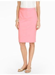 Luxe Cotton Pencil Skirt