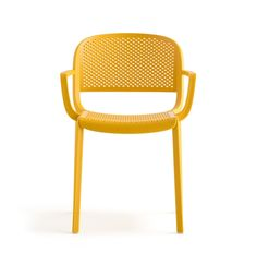Suitable for indoor and outdoor use Polypropylene frame Perforated seat & back Curved-back Stackable Seat Height 460mm Width 580mm Depth 530mm Lead times 2-4 weeks FastTrack Minimum order 16 pcs All Prices Exclude VAT and Delivery