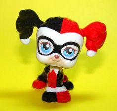Littlest Pet Shop Harley Quinn OOAK Custom Figure LPS Batman Joker Super hero #Hasbro
