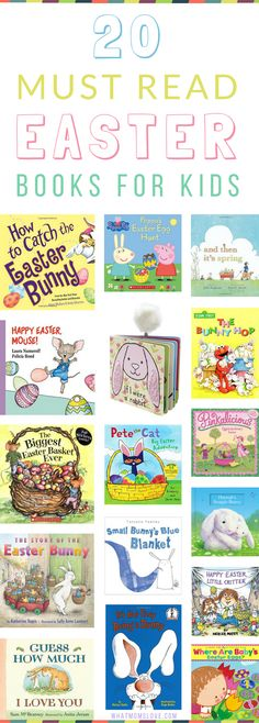 Easter Books for Kids   Children's Books about Easter and Spring   Perfect for Toddlers, Preschoolers, Grade and Elementary School Kids   Include these great reading books in your egg hunt or Easter Baskets this year!