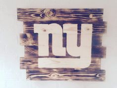 New York Giants Football wood sign by WallyWallhangers on Etsy