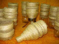 cuias de chimarão feitos com garrafas pet e revestidas de sizal bio