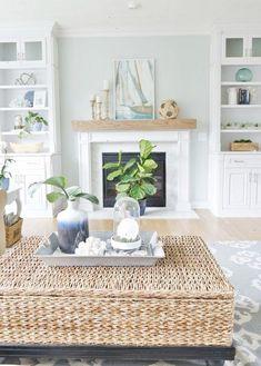Cute coastal cottage living room