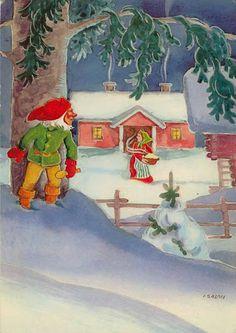 Finnish (house) gnomes - Salmi