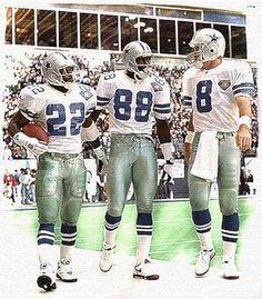"""Triplets"" Dallas Cowboys Art Print, Aikman, Irvin, Smith"