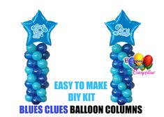 Blue's Clues Birthday Balloons Columns, Blue Dog Cake Table, Gift Table, DIY KIT Party Graduation Balloons, Wedding Balloons, Birthday Balloons, Mylar Balloons, Baby Shower Balloons, Latex Balloons, Balloon Columns, Balloon Arch, The Balloon