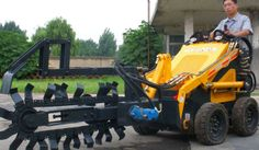 mini loader with trencher - China mini loader with trencher, HY380