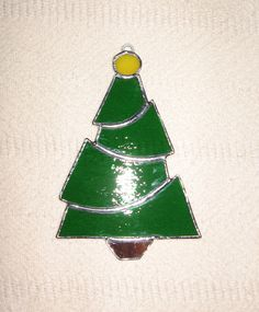 Christmas Tree Stained Glass Suncatcher / Ornament