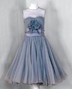 1950's Harvey Berin silk chiffon party dress.