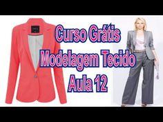 Curso Modelagem Tecido GRÁTIS - Blazer De Alfaiate Feminino - 12/12