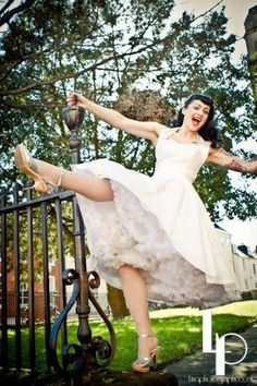 Vivien of Holloway 1950s Retro halter luxury Ivory Satin Lace swing dress wedding dress
