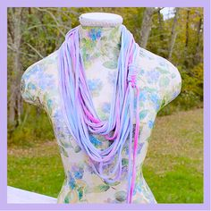 Hippie Summer Tie Dye Infinity TShirt Scarf  by tranquilityy