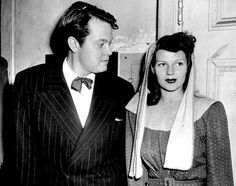 Orson Welles and wife Rita Hayworth