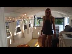 Can't-Miss Open and Airy Converted School Bus. Plus an Awesome Shower Rod Idea.