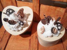 Cofanetto con decorazione biscotti in fimo (piccolo)