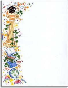 bordas coloridas para diplomas de formatura infantil    Cad...