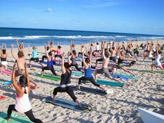 Yoga on the Beach  #WhatsHappeningInTheSouthBay #Southbay #Events #Music