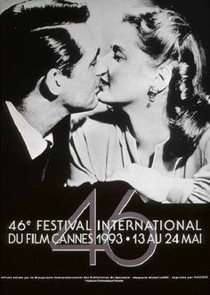 France. Cannes Festival poster, 1993. A still from Alfred Hitchcock's Notorious covered the 1993 festival poster. The film premiered as an Official Selection at the 1946 festival...