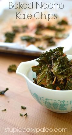 Baked Nacho Kale Chips ... I WILL master the kale chip this year!