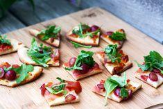 Grape, Prosciutto, and Arugula Flatbread | 101 Bite-Size PartyFoods