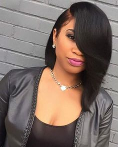 Bob Wigs For African American Women The Same As The Hairstyle In The Picture - Wigs For Black Women - Lace Front Wigs, Human Hair Wigs, African American Wigs, Short Wigs, Bob Wigs Black Women Hairstyles, Straight Hairstyles, Black Girls Hairstyles, African Hairstyles, Hairstyles 2018, Medium Hairstyles, Sew In Bob Hairstyles, Hairdos, Quick Weave Hairstyles