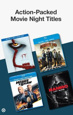 Make your movie nights an edge-of-your-seat experience with top, action-packed titles. From It: Chapter 2 & Gemini Man to Zombie Land: Double Tap, Fast & Furious Presents: Hobbs & Shaw and Rambo: Last Blood. Shop now at Target. Funny Animal Pictures, Cute Pictures, Funny Animals, Movie Night Party, Movie Nights, Color Guard Memes, Kimba The White Lion, Netflix Shows To Watch, Girls Nail Designs