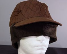 Brown Trapper Winter Hunting Hat Cap Ear Cover Fishing Cotton Insulated Sz Large # #Fitted