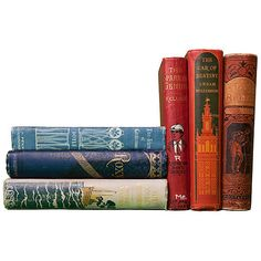 S/6 Victorian Books ($119) ❤ liked on Polyvore featuring books, fillers, stuff, extras, home and magazine