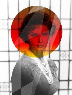 Sophia Loren, Classic Beauty Remixed on the Behance Network