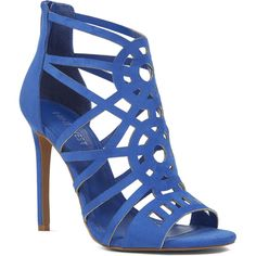 Nine West Notreally Caged Sandals ($99) ❤ liked on Polyvore featuring shoes, sandals, sexy stilettos, sexy high heel sandals, nine west sandals, stiletto shoes and heels stilettos