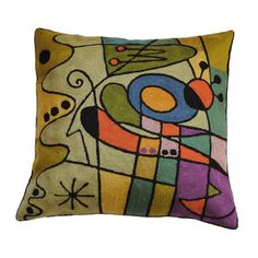Zaida Handmade Kandinsky Carnival Purple Cushion