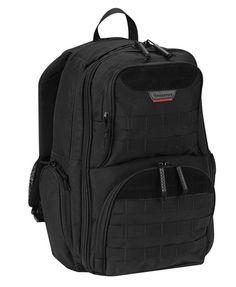 Black Expandable Backpack By Propper has dual access rear compartment with loop field for CCW access or laptop storage. It has zippered side pockets expand to accommodate a bottle or phone. And it is made with padded adjustable shoulder straps & adjustable sternum strap. #Army #USArmy #USAF #Navy #USNavy #Marines #CoastGuard #Marinecorps #Airforce Molle Backpack, Laptop Storage, Day Backpacks, Tactical Bag, Backpack Brands, Black Backpack, Outdoor Gear, Unisex, Men Accessories