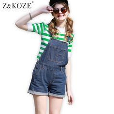 4e7639c10c80 Z KOZE 2017 Elegant jeans white balck jumpsuits casual romper for women  summer playsuits vintage sexy denim shorts overall-in Rompers from Women s  Clothing ...