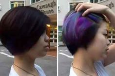This Girl's Secretly Dyed Hair Is Giving Us So Much Life Right Now