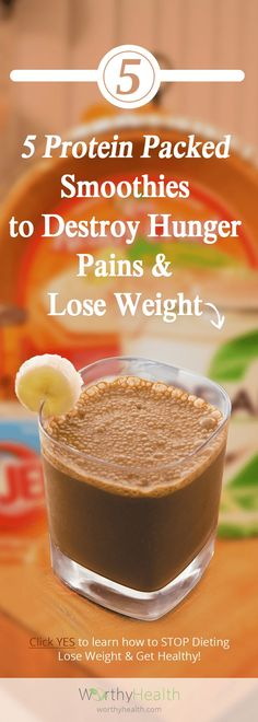 5 protein Packed Smoothie Recipes to Destroy hunger Pains &. 5 protein Packed Smoothie Recipes to Destroy hunger Pains & Lose weight Low Carb Protein Shakes, Protein Shake Recipes, Healthy Shakes, Protein Pack, Healthy Drinks, Healthy Eating, Eating Fast, Healthy Meals, Healthy Food