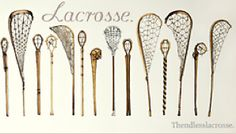 Old school lacrosse sticks just like Darrell and Felicity might have used.