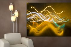 lights, yellow, green, white Choices, Neon Signs, Lights, Interior Design, Yellow, Green, Painting, Home Decor, Highlight