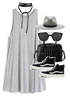 """""""Outfit with a jersey dress and Vans"""" by ferned on Polyvore featuring H&M, rag & bone, AllSaints and Vans"""