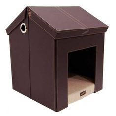 Pet Haven Indoor Folding Dog House Ooboo Designs - includes toy storage in the attic and memory foam pad
