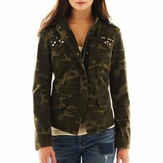 I really want this jacket! Tried it on at the store and it fits perfectly! Plan to remove the jewels tho. Military Camouflage Jacket - jcpenney