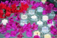 Great Centerpieces - Floating Tealight Holders are great perfect for ponds and pools.